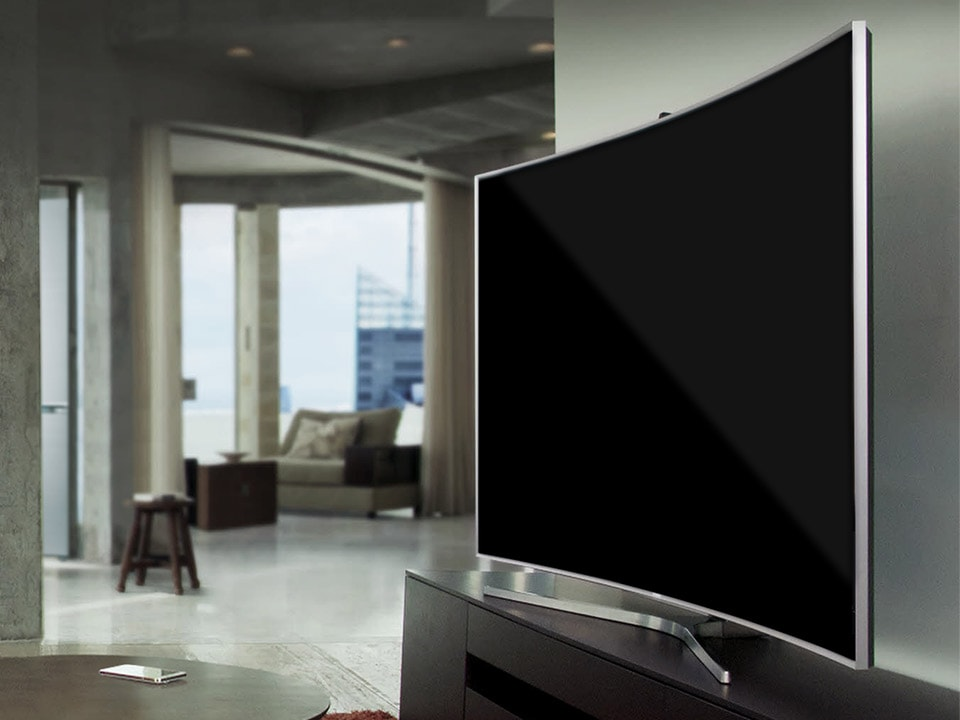 Samsung Curved Smart TV woonkamer