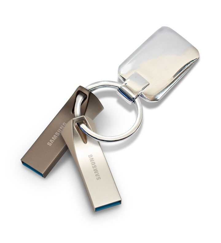 two usb's on a keychain