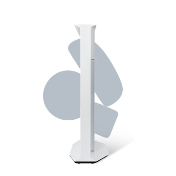 "En Cloud White The Serif 43"" i profil fra venstre."