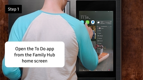 Step 1. Open the To Do app from the Family Hub home screen