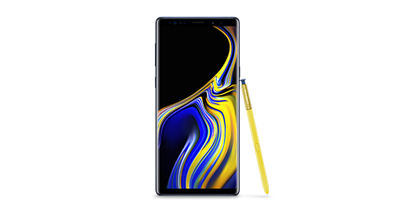 Front  perspective Galaxy Note9