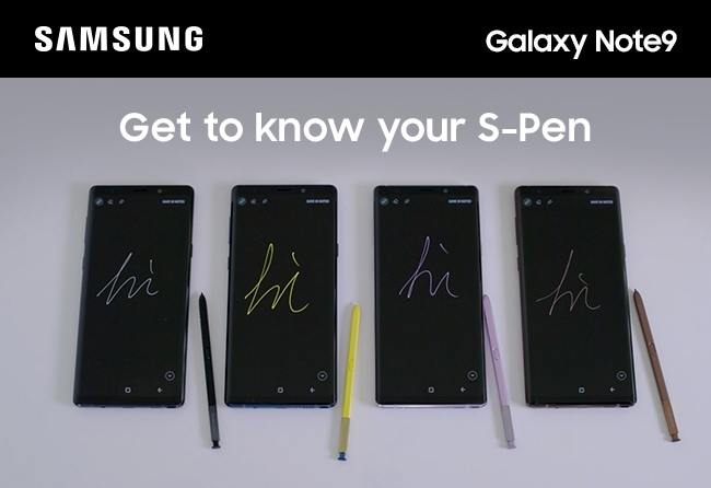 Samsung Galaxy Note9. Get to know your S-Pen