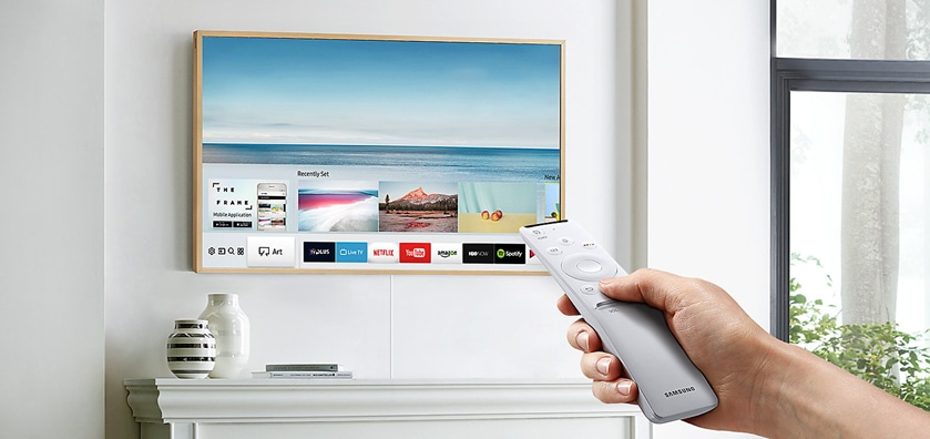 The Frame TV with remote