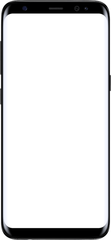 Image of Galaxy S8 with empty screen