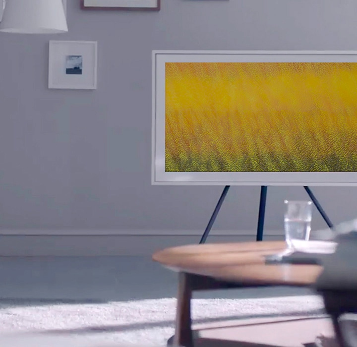 The Frame TV auto adjusts the brightness to match the natural light.
