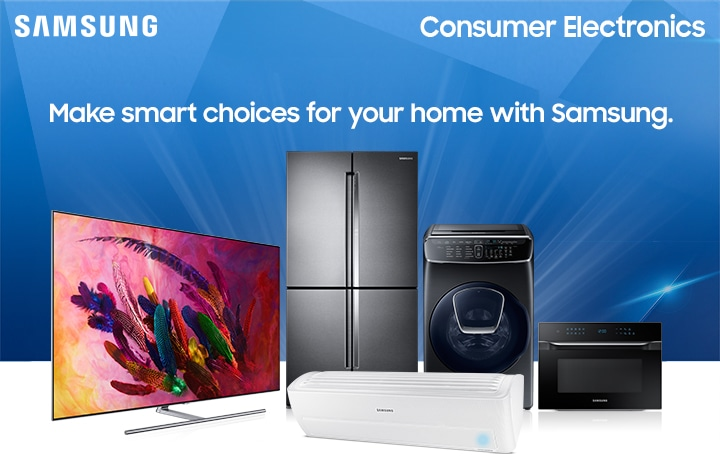 Samsung Consumer Electronics There's still time to upgrade your home for less!
