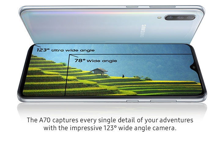 The A70 captures every single detail of your adventures with the impressive 123° wide angle camera.