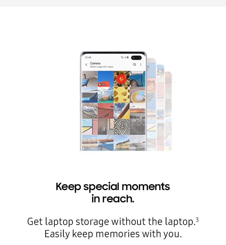 Keep special moments in reach. Get laptop storage without the laptop. Easily keep memories with you.