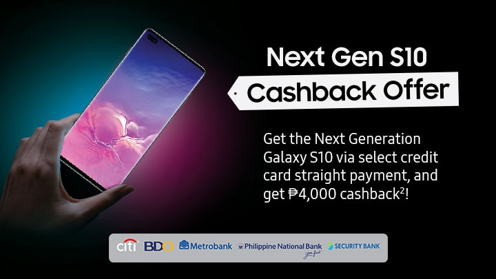 Next Gen S10 Cashback Offer