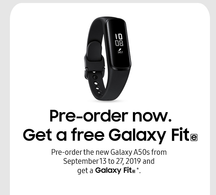 Pre-order now and get a free Galaxy Fit e.