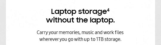 Laptop storage without the laptop
