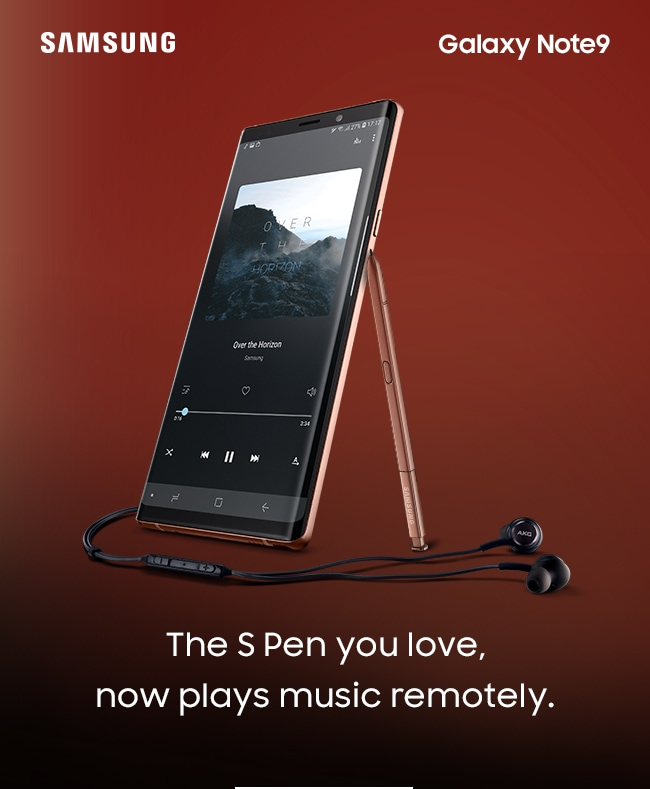 The S Pen you love, now plays music remotely.
