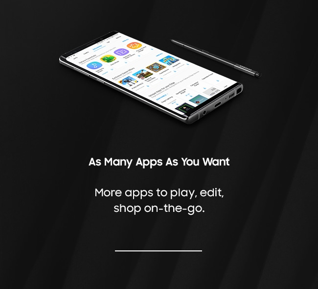 As Many Apps As You Want. More apps to play, edit, shop on-the-go.