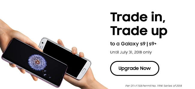 Trade In your old smartphone for a Galaxy S9 | S9+