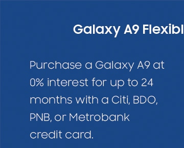 Galaxy A9 Flexible Payment Deals