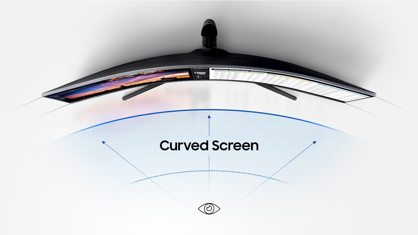 As an image that describes the comfort level, you will see the image of the curved monitor you saw above and an infographic depicting it.As an image that describes the comfort level, you will see the image of the curved monitor you saw above and an infographic depicting it.As an image that describes the comfort level, you will see the image of the curved monitor you saw above and an infographic depicting it.