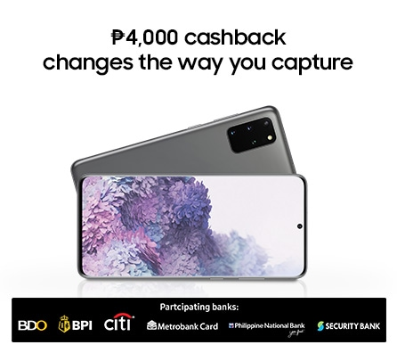 Thumbnail image of Galaxy S20+ and S20 Ultra Promo: 4k Cashback