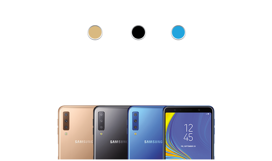Galaxy J8 Available Colors