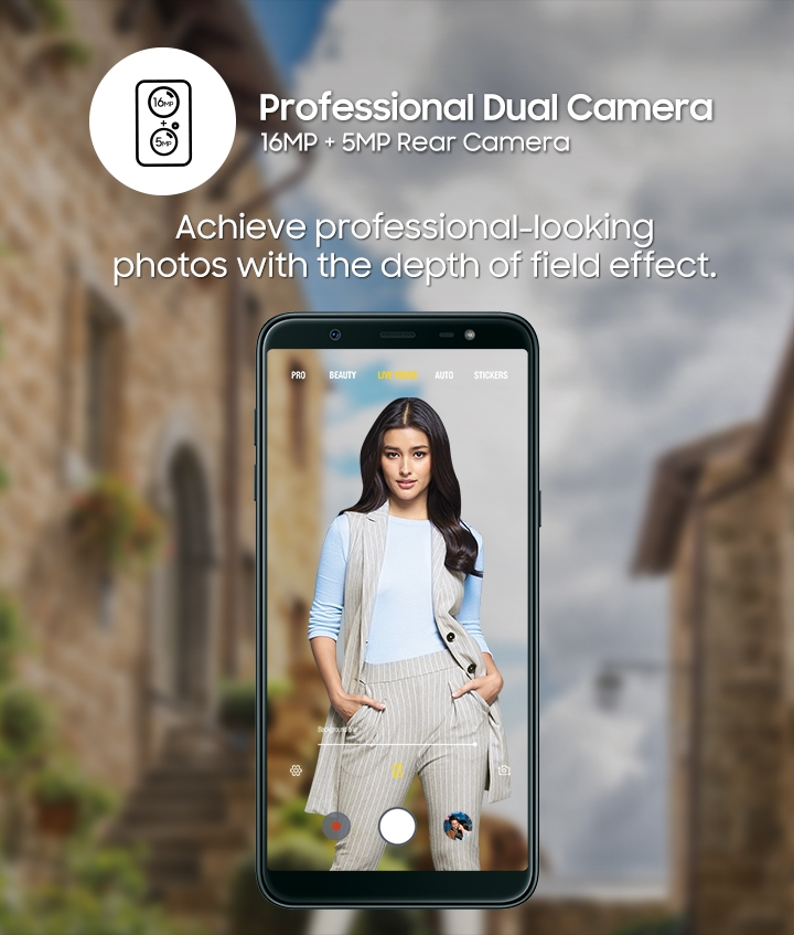 Galaxy J8 - Professional Dual Camera