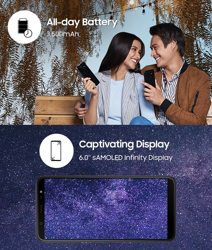Galaxy J8 - All day battery and Captivating Display