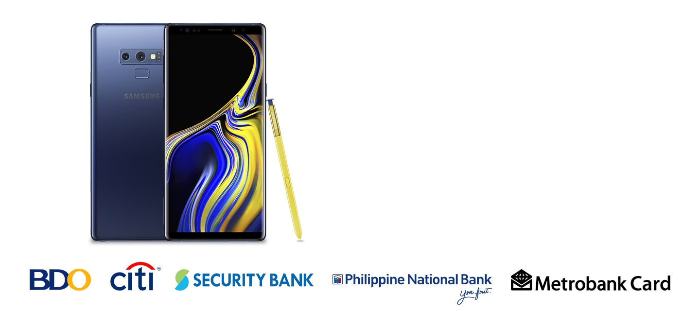 Get P4,000 Cashback on your Galaxy Note9 purchase