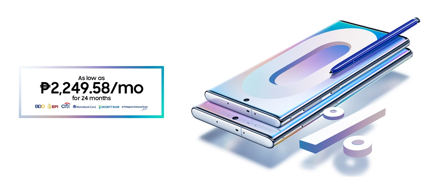 Galaxy Note10 Promos : Flexible Payments