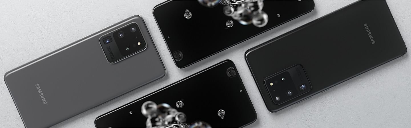 Black Galaxy S20 devices