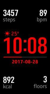 Fitness Pro 3 watch face in red