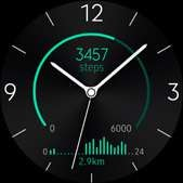 Active Rhythm watch face in green