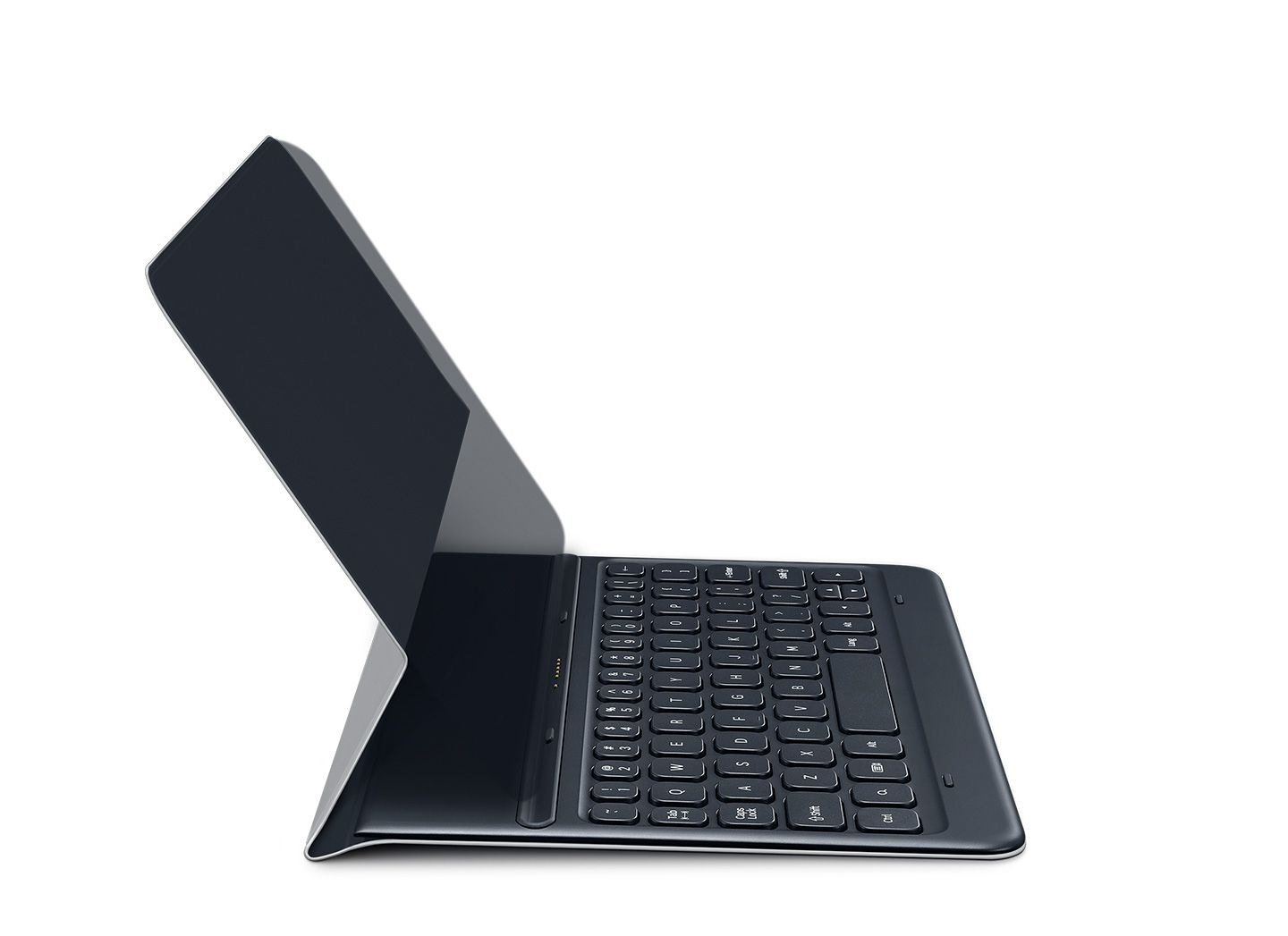 Illustrative image showing how Galaxy Tab S3 connects easily with the dedicated keyboard