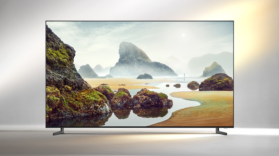 A front view product image of the 2019 new Samsung QLED Q900R.