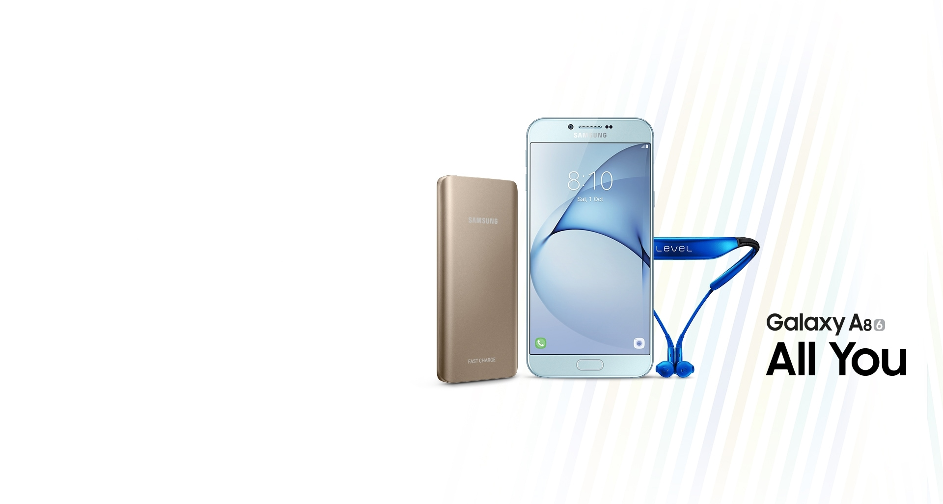 Buy Galaxy A8 2016 and get  Level U & Battery Pack Free