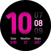 new dashboard type pink color watchface