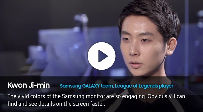 Billede fra interview med Kwon Ji-Min, Samsung GALAXY team, League of Legends-spillere.