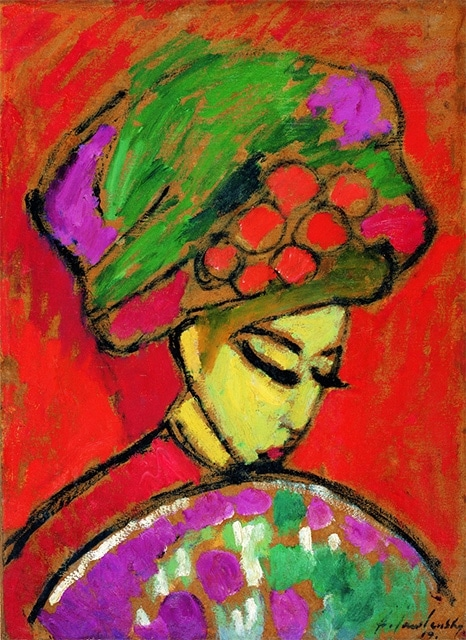 Alexei Jawlensky Young Girl with a Flowered Hat (1910)