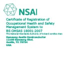 Certificate image of OHSAS 18001