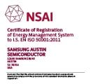 Certificate image of ISO 50001