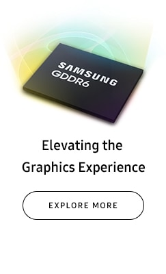 Front and back view of Samsung GDDR6 - Elevating the Graphics  Experience