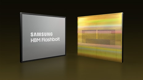 Samsung HBM Flashbolt Chip front and back.