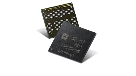 Samsung uMCP chip front and back