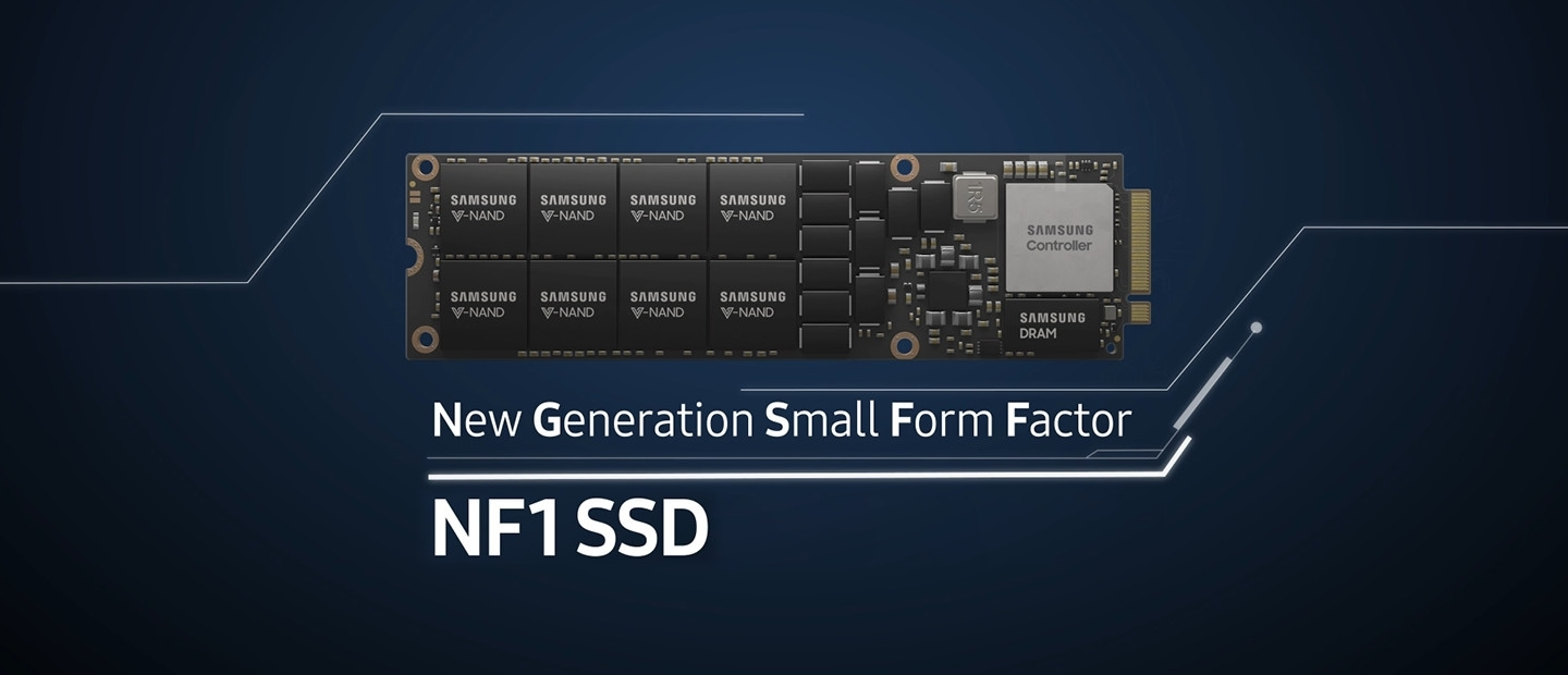 This video introduces Samsung's New Generation Small Form Factor, NGSFF (NF1) SSD. It delivers high serviceability, hyper scalability, outstanding performance, and also lower power consumption. NGSFF (NF1) SSD will take server storage to a new dimension.
