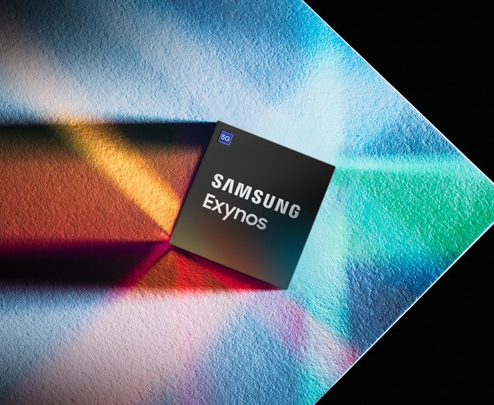 Samsung Exynos processor with 5G symbol.