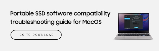 Potable SSD software compatibility troubleshooting guide for MacOS