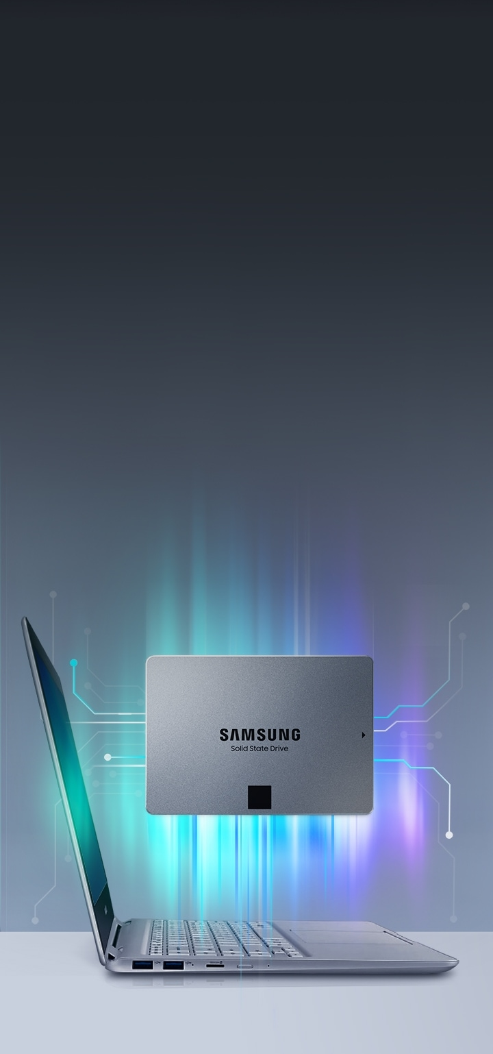 Samsung SSD 860 QVO with the laptop