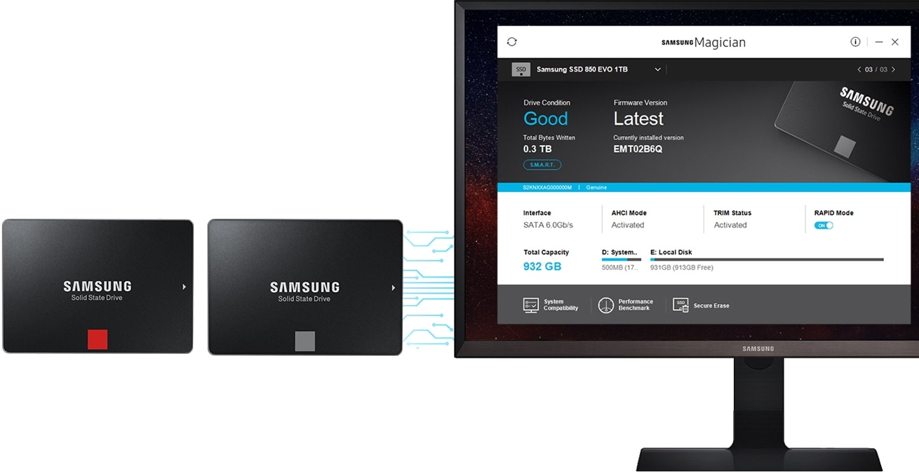 Samsung SSD Magician software overview