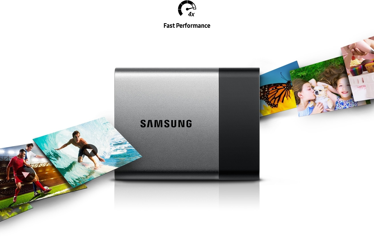 Samsung Portable SSD T3, fast performance