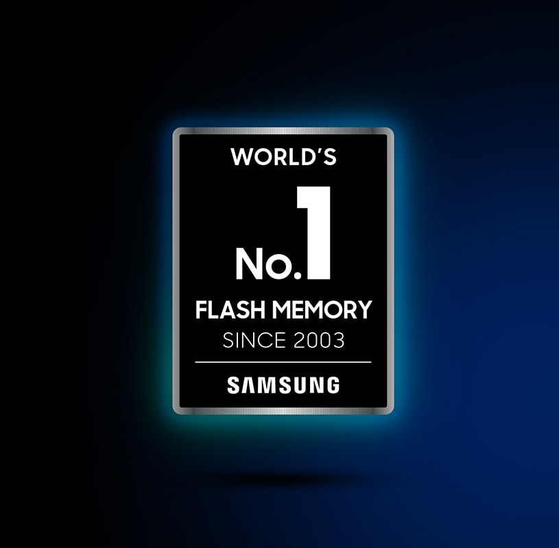 An illustrative image of the seal indicates World's No. 1 Flash Memory Since 2003 - Samsung.