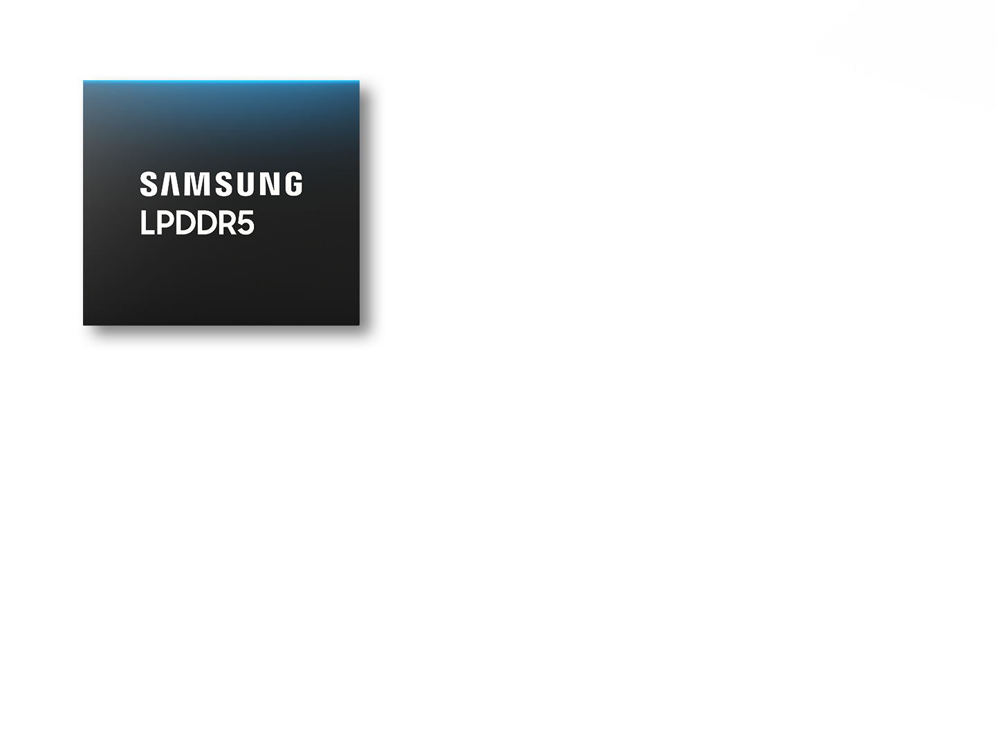 Samsung LPDDR5 against an image of 5G and AR map.