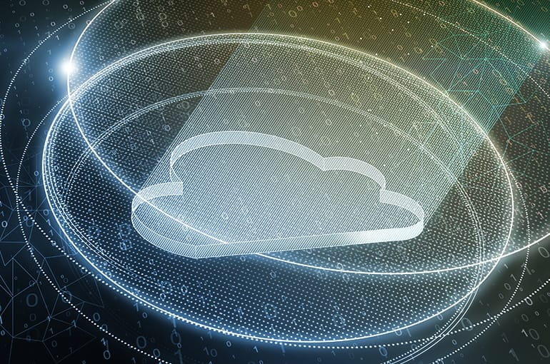 An illustrative image of cloud in digital form.