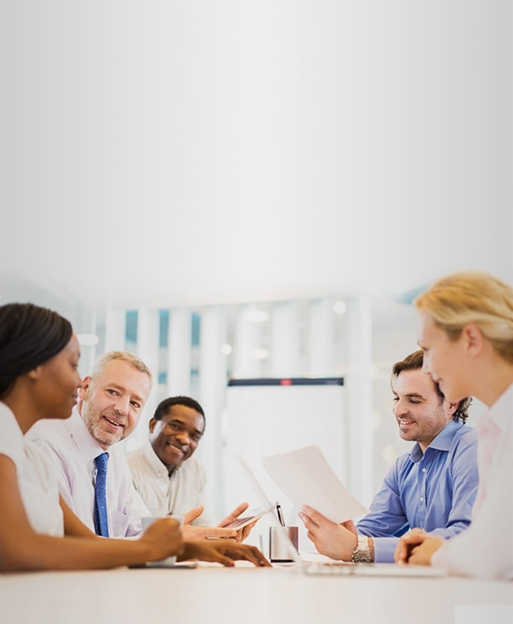 A group of people gathering for a meeting